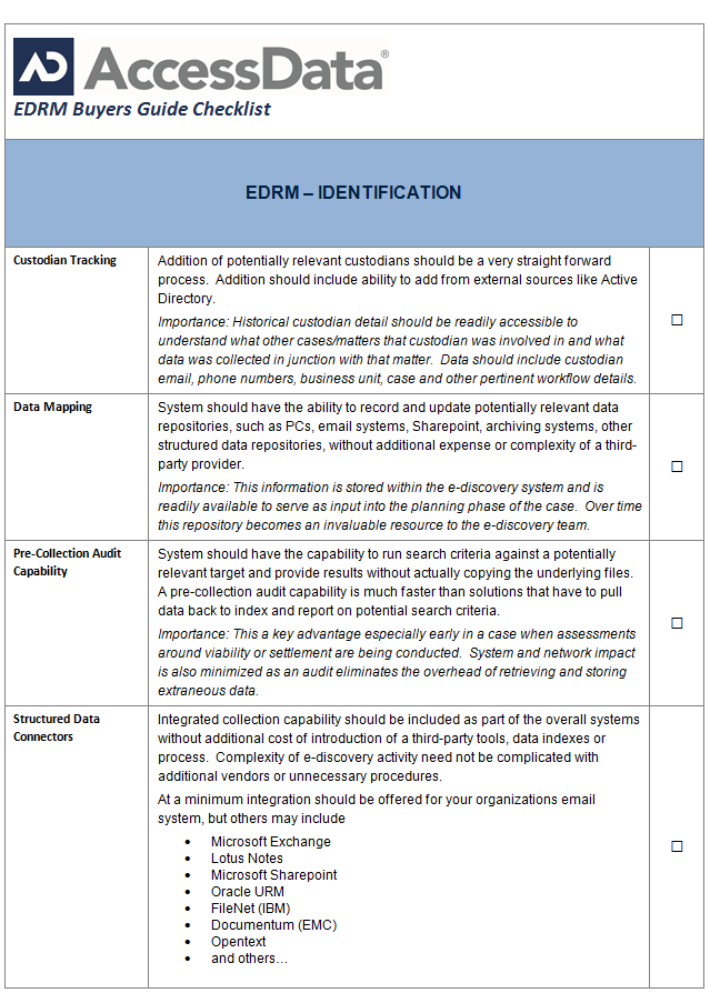 EDRM Buyer's Guide, Part III